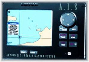 AIS scherm waarop je schepen om je heen varende schepen kunt zien