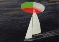 Verlichting klein zeilschip