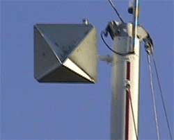 Radarreflector juist gemonteerd