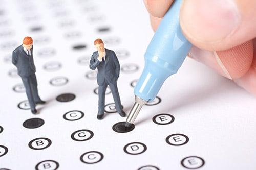 Topdrukte bij vaarbewijs examen