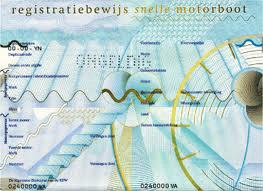 Registratiebewijs snelle motorboot