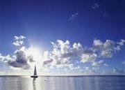 Zeilboot is ook leuk bij rustig weer