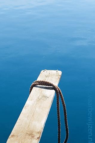 Verzekering boot. Afbeelding springplank piratenschip.